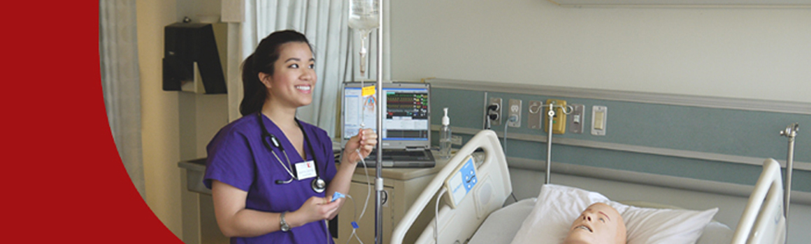 Nursing Student in a Training Session